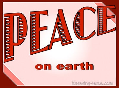 Luke 2:14 Peace on Earth (red)