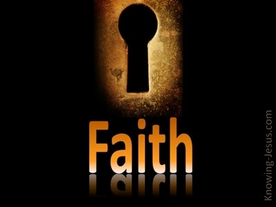 Faith Is The Key (devotional)