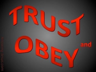 TRUST And Obey (red)