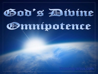 God's Divine Omnipotence (devotional) (blue)