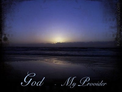 God, My Provider (devotional)