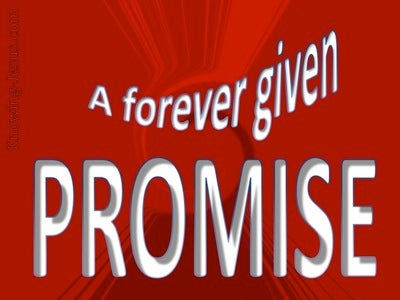 A Forever Given Promise (devotional) (red)