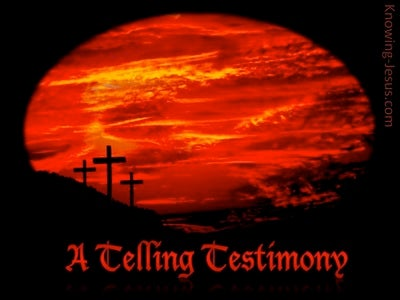 A Telling Testimony (devotional) (red)