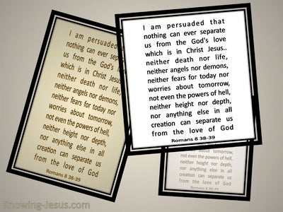 Romans 8:39 I Am Persuaded (beige)