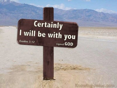 Exodus 3:12 I Will Be With You (beige)
