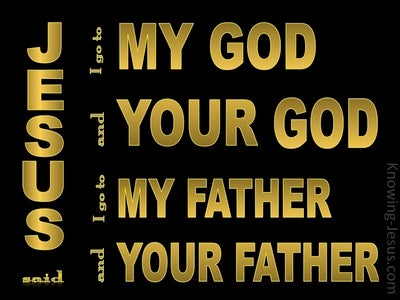 John 20:17 My God And Father, Your God And Father (gold)