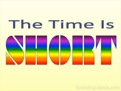 The Time Is Short (devotional)10-16 (yellow)