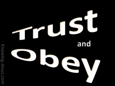 TRUST And Obey (black)