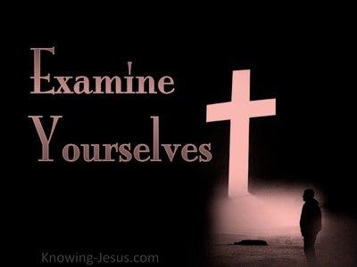 2 Corinthians 13:5 Examine Yourselves (pink)