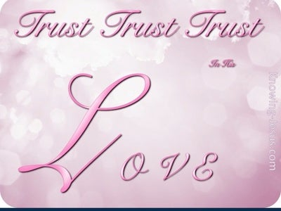 TRUST In His Love (pink)