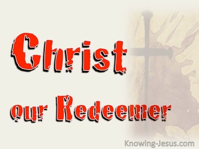 Christ, Our Redeemer (devotional) (red)