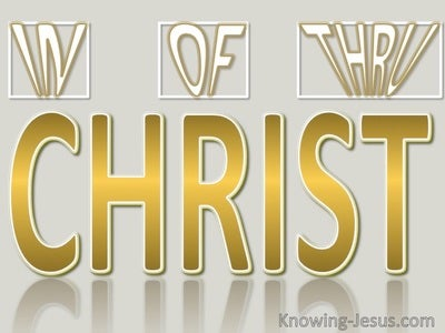 In Of And Thru Christ (devotional) (gold)