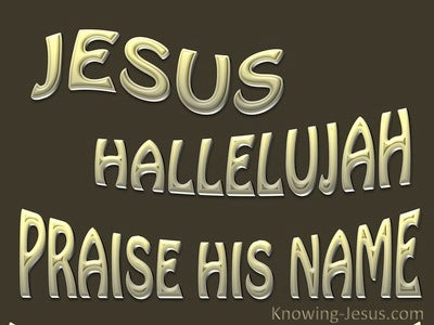 JESUS - Hallelujah Praise His Name (brown)