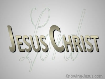 Lord Jesus Christ (devotional) - (gray)