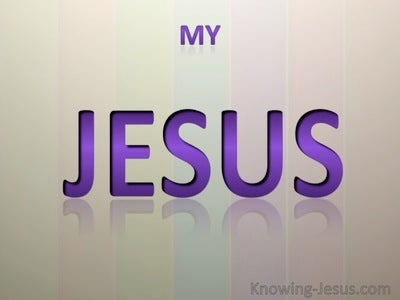 My Jesus  (purple)