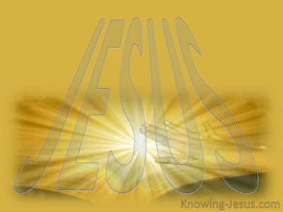 JESUS - His Name (yellow)