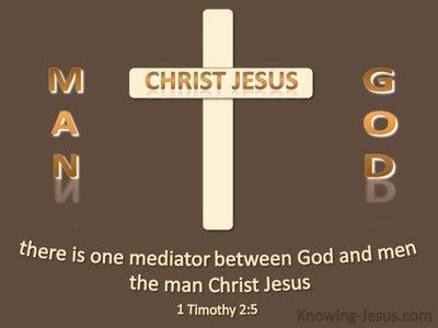 1 Timothy 2:5 One Mediator Between God And Men  (beige)