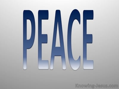 Galatians 5:22 Fruit Of The Spirit Is Peace (blue)