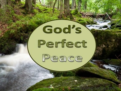 God's Perfect Peace (devotional) (green)