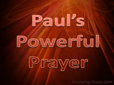 Paul's Powerful Prayer (devotional) (brown) Ephesians 3-15