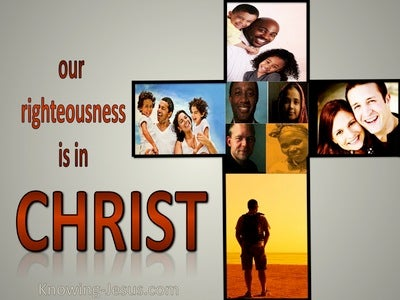Philippians 3:9 Righteousness Is In Christ (gray)