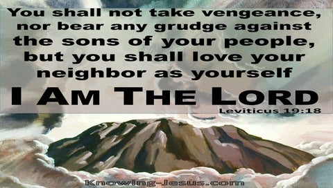 Leviticus 19:18 Do Not Hold Grudges Love Your Neighbour (brown)