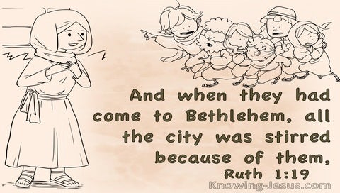 Ruth 1:19 The City Was Stirred (brown)