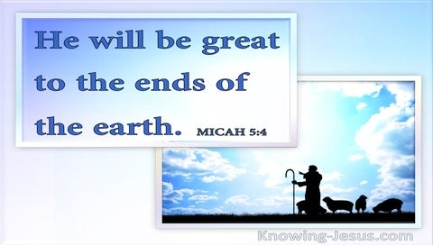 Micah 5:4 He Will Arise And Shepherd His Flock (white)