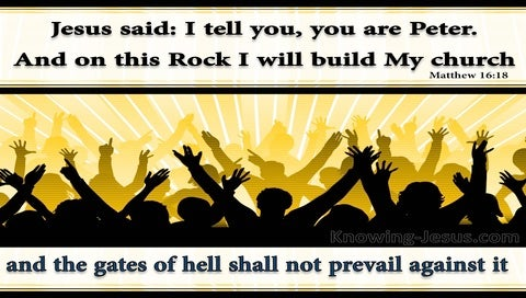 Matthew 16:18 On This Rock I Will Build My Church (yellow)
