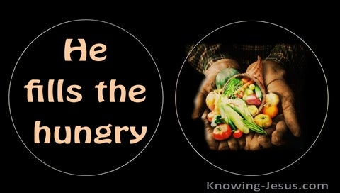 Luke 1:53 He Has Filled The Hungry (black)