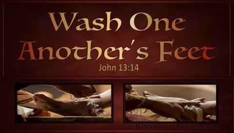 John 13:14 Wash One Anothers Feet (red)