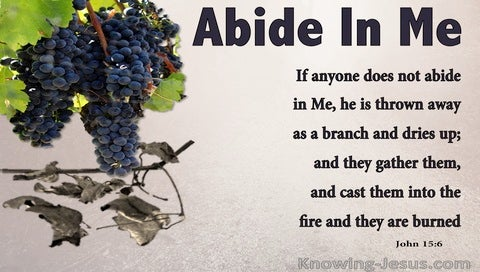 John 15:6 He Who Does Not Abide In Me Is Thrown Away (beige)