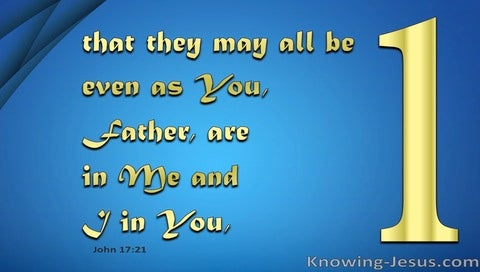 John 17:21 That They May Be One (blue)