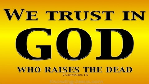 2 Corinthians 1:9 God Who Raises The Dead (gold)
