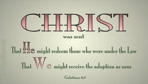 Galatians 4:5 That We Might Receive Adoption of Sons (pink)