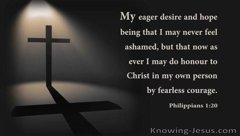 Philippians 1:20 My Eager Desire And Hope That I May Never Feel Ashamed (utmost)01:01