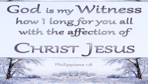 Philippians 1:8 God Is My Witness (blue)