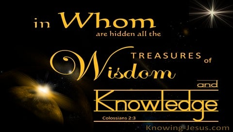 Colossians 2:3 Treasures Of Wisdom And Knowledge (black)