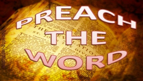 2 Timothy 4:2 Preach The Word (brown)