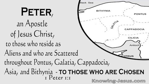 1 Peter 1:1 To Those Who Are Aliens And Chosen (gray)