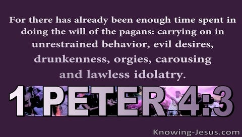 1 Peter 4:4 Enough Time Spent On Unrestrained Behaviour (purple)