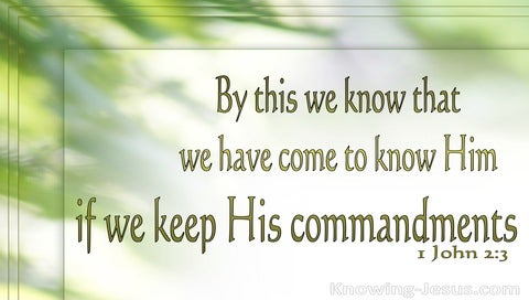1 John 2:3 We Know Him If We Keep His Commands (green)