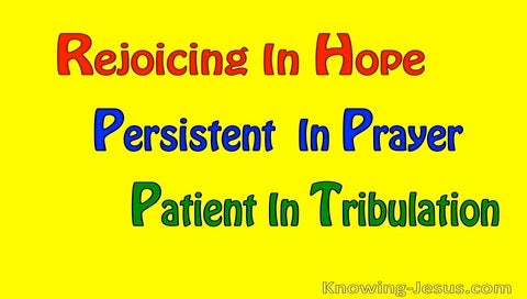 God's Gift of Hope (devotional) (yellow) - Romans 12:12