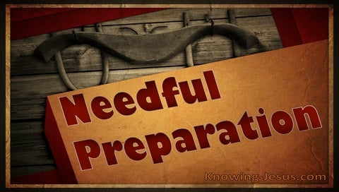 Needful Preparation (devotional) (brown)