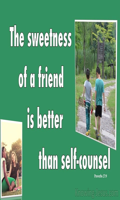 Proverbs 27:9 Incense Brings Joy To The Heart (green)