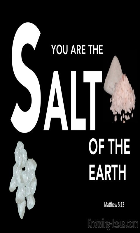 Matthew 5:13 You Are The Salt Of The Earth (white)