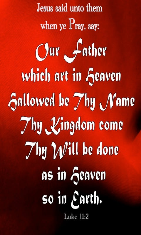 Luke 11:2 Our Father Which Art In Heaven (red)