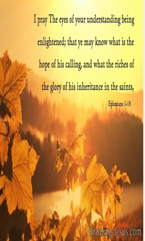 Ephesians 1:18 The Hope Of His Calling (brown)