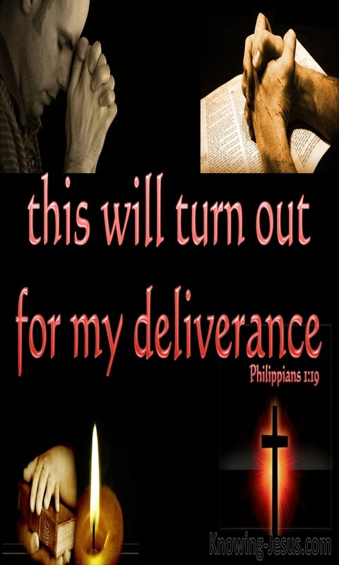 Philippians 1:19 Deliverance Through Prayer And Christ's Provision (red)