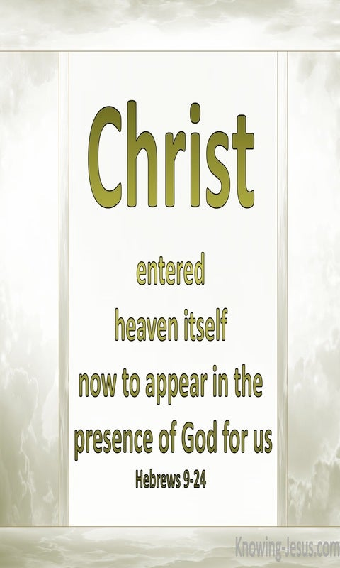 Hebrews 9:24 Christ Entered Heaven (sage)